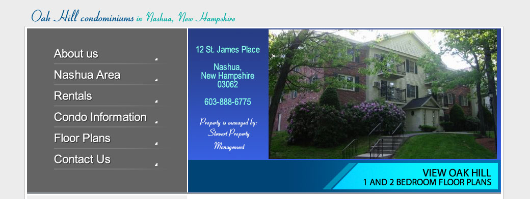 Oak Hill Condominiums In Nashua New Hampshire Nashua Area
